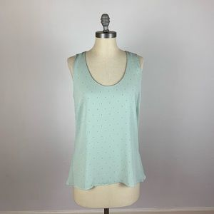Ann Taylor Mint Green Dot Tank